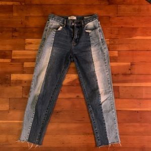 Pac sun vintage icon high waisted two tone jeans
